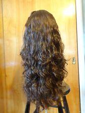New Malky Wig Sheitel  European Human Hair Wig Dark Med Brown Highlights 8/4
