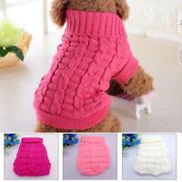 Pet Puppy Knitted Jumper Sweater Coat Dog Cat Warm Winter Jacket Soft