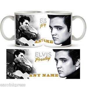 ELVIS PRESLEY PERSONALISED Ceramic Photo Mug Cup Tea Coffee Add Name Gift New