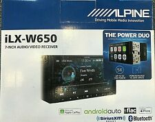 "Alpine iLX-W650, 7"" Double Din Digital Media Receivier, CarPlay / Android Auto"