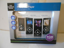 SHARPER IMAGE RECHARGEABLE MP3 VIDEO PLAYER WITH ACCESSORY KIT 4GB CAPACITY