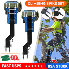 Adjustable Tree Climbing Spike Set Safety Belt Lanyard Rope Rescue Belt