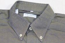 E7302 Eterna Excellent Businesshemd Kurzarm 39 Gelb Blau kariert Neuwertig