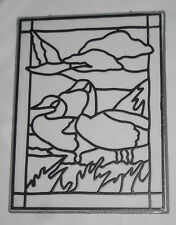CANADIAN GEESE Sun catcher Glass Painting DIY Goose Birds Suncatcher New