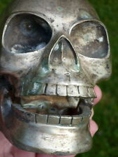 TIBETAN  SKULL AMULET STATUE MOVABLE JAW BLESSED Boudhanath Temple in Kathmandu