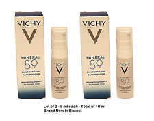 Lot of 2 Vichy Laboratoires Mineral 89 Fortifying Daily Skin Booster -5 ml - Nib