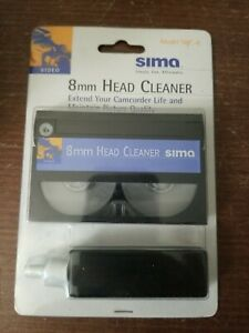 New NOS SIMA 8mm Camcorder Video Camera HEAD CLEANER with Fluid kit