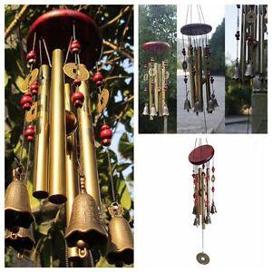 AMAZING RELAXING 4 Tubes 5 Bells Bronze CHAPEL CHURCH BELLS WIND CHIMES
