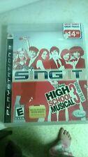PS3 DISNEY SING IT HIGH SCHOOL MUSICAL 3 SENIOR YEAR GAME