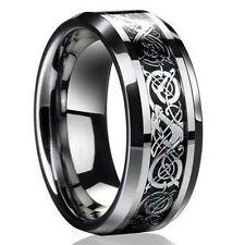 2016 Men's Silver Celtic Dragon Titanium Stainless Steel Wedding Band Rings Gift