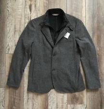 NWT ZARA Man Gray Long Winter Jacket Coat Size M