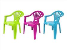 RSW Stackable Kids Children Plastic Chair Home Picnic Party Child up to 22.5kg Green