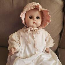 "18""- 30's 40's R & B Composition Doll- Arranbee Doll in Beautiful Bonnet"