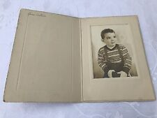 Old Vintage Small Boy Portrait Studio Photo Old Picture Smile Child Kid Overall