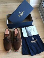 """Tricker's WOODSTOCK Kudu Reverse Suede Derby Shoe in """"Ridge"""" Brown - Size UK 7"""
