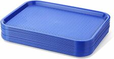 12 Pcs Fast Food Service Equipment Tray Plastic Serving Restaurant Dining Lunch