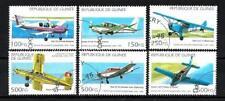 Avions Guinée (37) série complète de 6 timbres oblitérés