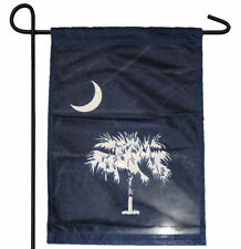 "STATE OF SOUTH CAROLINA SC PALMETTO GARDEN BANNER/FLAG 12""X18"" SLEEVED POLY"