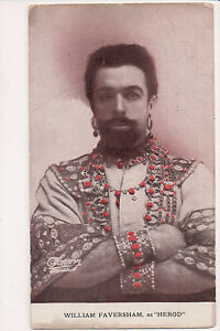 Vintage Postcard William Faversham as Herod English stage and film actor,