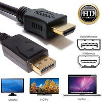 5m DisplayPort Plug to HDMI Male Plug Display/Monitor/TV Cable Adaptor Converter