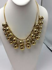 $198 Kate Spade gold Tone Ring It Up Double Strand Ball Necklace #240