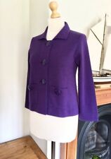 LK Bennett Violet Purple Wool Reach Blend Cardigan Jacket , Size M