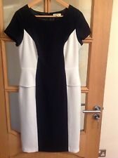 PAPAYA WOMENS DRESS UK12 BLACK & CREAM PARTY