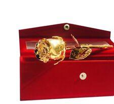 24K Real Rose Gold Dipped Rose in Beautiful Velvet Gift Box Best Unique Gift HN