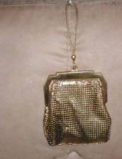 1930's Vintage Whiting & Davis Gold Metal Mesh Flapper Purse