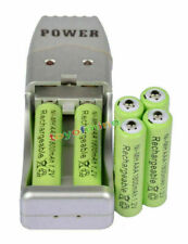 6X AAA 3A 1800mah1.2V NiMH rechargeable battery Green+USB Charger