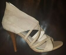 CALVIN KLEIN Richelle Fish/Nappa Strappy Zip High Heels Size 9M