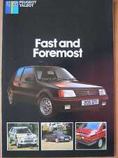 Peugeot Talbot 'First and Foremost' range brochure 205 305 505 Samba Rapier 1985