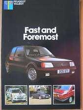 Peugeot Talbot 'First and Foremost' range brochure 205 305 505 Samba Rapier 1985