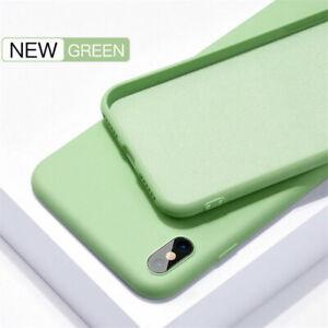 For iPhone 6s 7 8 Plus/XS Max XR X 11 Pro Max SE Thin Case Liquid Silicone Cover
