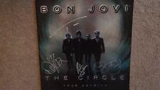 BON JOVI SIGNED THE CIRCLE 2010 TOUR BOOK RICHIE SAMBORA NEW