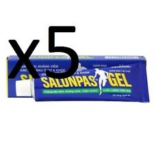 5 x 30g Tubes Salonpas Hisamitsu Heat Gel Hot Back,Muscle,Arthritis Pain Relief