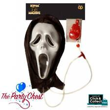 BLEEDING GHOST MASK WITH HOOD Halloween Scary Horror Movie Costume Mask 10815