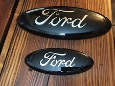 "FOCUS CUSTOM PAINTED BLACK EMBLEM SET,5 3/4"" & 7"",OEM, ask about correct year,"