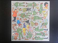 Feuillet de décalcomanies Tintin Willeb 1978
