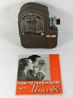 Vintage Univex 8mm Cine Film Camera Model C8 with Manual