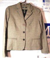 New Women's Ralph Lauren 10 Petite 100% Wool / Laine Blazer Jacket Cost $250.00