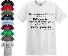 ONE GOOD THING ABOUT MUSIC T-Shirt Bob Marley Gift Love Raga Rasta tshirt Top