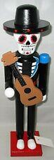 """Halloween Nutcracker 15"""" Sugar Skull Guitar Player"""