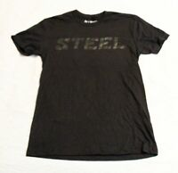 Steel Supplement Men's Short Sleeve Steel Logo T-Shirt SV3 Black Size XS