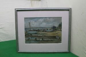 Watercolour Painting West Mersea Scene by George Charles Francis (1860-1940)