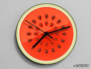 Watermelon Fruit Wall Clock