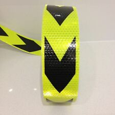 Hi-Vis Yellow Adhesive Vehicle Reflective Caution Safety Tape 50mm x 5m Roll