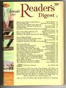 Reader's Digest Magazine September 1967