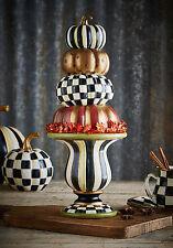 "MacKenzie-Childs Halloween/Harvest Tabletop Stacking Pumpkins Figurine-16"" Tall"