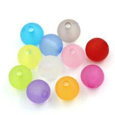 100 bellissimi di alta qualità PASTELLO SATINATA Bubblegum ROUND BEADS 6mm